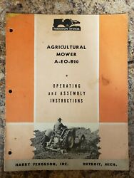 1952 Ferguson Tractor System Operating Manual Agricultural Mower A-eo-b20