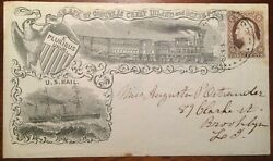 Barnabas Bates Propaganda Cover Cheap Inland And Ocean Postage 2020 Pfc 15 Known