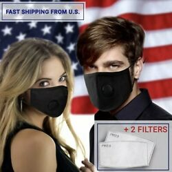 4 X Reusable Air Purifying Safety Mask + 8 Carbon Filter Ships From USA Next Day $22.99