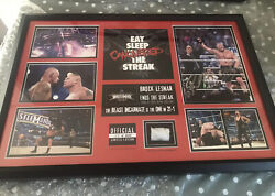 Brock Lesnar Wrestlemaina 30 Plaque Singed Rare Out Of Print