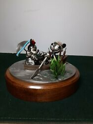 Mickey And Minnie Sweethearts Rowboat Serenade Chilmark Fine Pewter 75/500