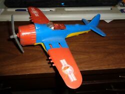 Vintage Hubley Folding Wings Toy Air Plane Fighter Nice