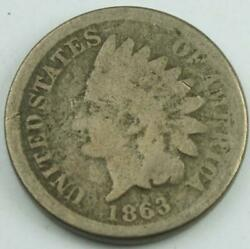 1863 Us Indian Head One Cent Penny Coin Civil War Era A Piece Of Us History