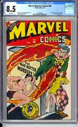 Marvel Mystery 80  Cgc 8.5 Vf+ Incredible White Pages Beautiful Book