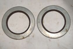 1936 Chevrolet R Truck Rear Wheel Outer Oil Seals Pair Replace Gm 473619