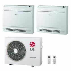 Lg Low Wall Console 2-zone System - 18000 Btu Outdoor - 9k + 9k Indoor - 22 ...