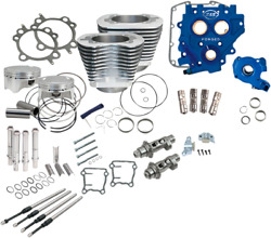 Sands Cycle 585ce Silver Big Bore Cylinder Kit - Power Package Usa Made 330-0666