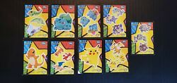 1998 Topps Pokemon The First Movie Animated Sticker Set Of 9 Cards