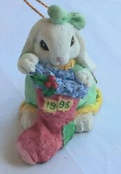 The Patchville Bunnies Collection - Special Amanda 1995 Ornament - Damaged Box