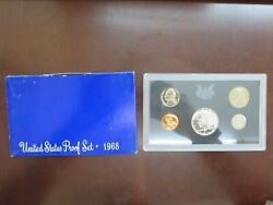 1968 United States Proof Set - 40 Silver Kennedy Half Dollar