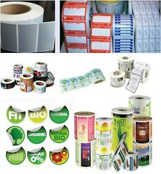 1000 Full Color Roll Labels Custom Printed 4x4 Square Or 4 Circle Stickers