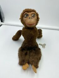 Vintage Somersaulting Monkey Wind Up Toy With Key Works