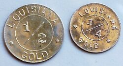 1904 Louisiana Purchase Expo 1/2 Gold And 1/4 Gold G50c And G25c Both Gold Coins