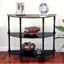 Espresso Console Table Provides Stylish Traditional Look Durable