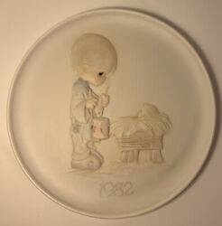 Precious Moments 1982 Christmas Plate Collection I'll Play My Drum For Him