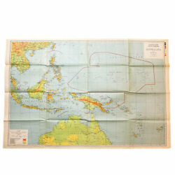 Wwii 1943 War Room Pacific Theater Us Plan Map And039guadalcanal Saipan Guamand039 Relic