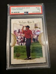 2001 Tiger Woods Rookie Upper Deck 151 Victory March Psa Graded