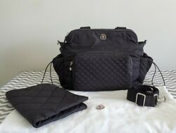 MONCLER Black Quilted Nylon Baby Diaper Bag $525.00