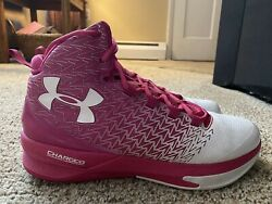 Under Armour Men#x27;s Clutchfit Drive 3 Pink and White Size 11.5 Pre Owned $34.99