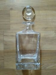 Sunseeker Yachts Dartington Decanter With Stopper And Silver Id Vodka Manhattan