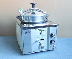 16l Stainless Steel Commercial Electric Pressure Fryer Cooker 0-200anddegc 220v
