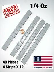 48 PIECES WHEEL WEIGHTS STICK ON ADHESIVE TAPE WEIGHT 1 4 OZ 0.25 4 strips