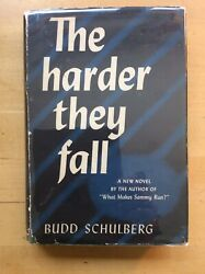The Harder They Fall Budd Schulberg Signed 1947 Random House Hardcover