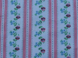 Vintage fabric Retro Pink flower Line medium weight 28quot;x 33quot;no:454