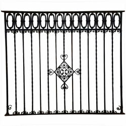 Antique Very Large Argentine Hand Forged Iron Window Grille Panel Reja C. 1920