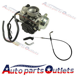 New Carburetor With Throttle Cable For Honda Big Red Fourtrax 250 Atc250sx