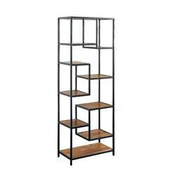 Hawthorne Collections Delancy Solid Mango Wood Bookcase - Brown