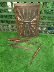 Gladiator. Gladiatress Actual Props Used In The Film. Arms Shield.