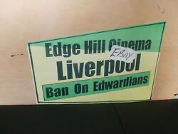 A3 Poster Edwardian Suit Ban, Edge Hill, Liverpool, Rockabilly, Rock'n'roll