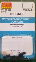 N Micro Trains 001 02 009 1023 Universal Body Mount Couplers