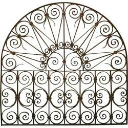 Antique French Style Wrought Iron Arched Transom 19th Century