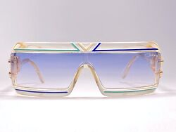 NEW VINTAGE CAZAL MOD 856 TRANSLUCENT 1980'S MADE IN W. GERMANY SUNGLASSES