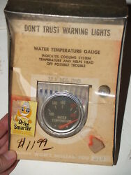 Vintage 1960andlsquos 70and039s Rac Rite Autotronics Corp Water Temp Gauge In Original Box