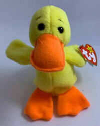 Ty Quackers The Duck Style 4024 Beanie Baby Collection Rare Misprints On Duck