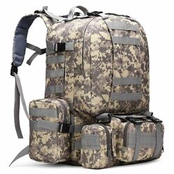 50l Military Backpack Hiking Camping Tactical Army Molle Shoulder Travel Pack