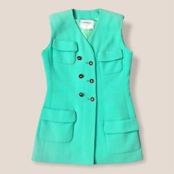 Vintage Teal Boutique Two Piece Suit Blazer And Skirt - Size 42