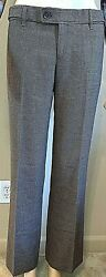 Authentic GUCCI Pants Brown Tweed Low Rise 100% Wool Size 40 $112.50