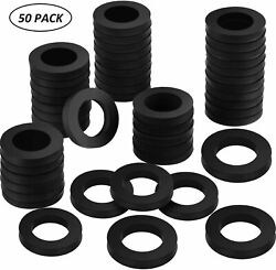 Keg Beer Gaskets Tap Line Washer Black Rubber Coupling Seal 50pcs 1/8in Thick