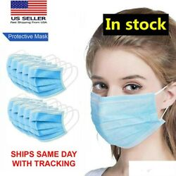 Face Mask Non Medical Surgical Dental Disposable 3-ply Earloop Mouth Cover