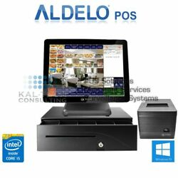 Aldelo Pro Cafe Restaurant All-in-one Complete Pos System Bundle New I5/8gb