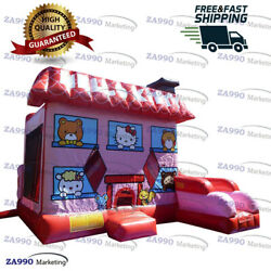 16x13ft Commercial Inflatable Hello Kitty Bounce House And Slide With Air Blower