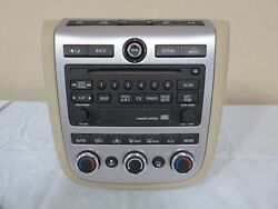 06-07 Nissan Murano Cd Disc Player Radio Climate Control Bezel Face Plate Oem
