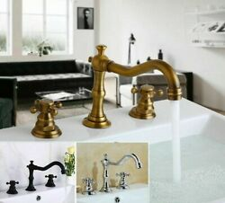Kitchen Bathroom Basin Faucets Sink Hot Cold Water Mixer Tap Faucet Vintage Type