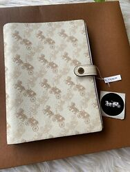 NWT  Authentic Coach Horse & Carriage Notebook