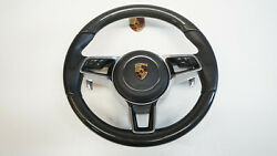Porsche 991 970 95b 958 Multifunction Airbag Steering Leather Black Carbon I-9