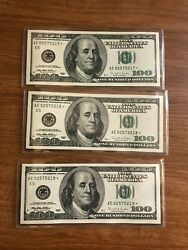 1996 100 Star Notes Lot Of 9 Currency Richmond E Replacement In Sequence